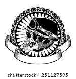 illustration of skull...