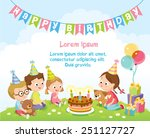 birthday party for kids | Shutterstock .eps vector #251127727