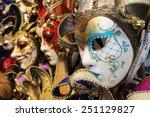carnival masks venice italy | Shutterstock . vector #251129827