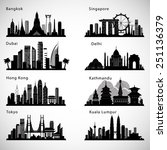 Asian Cities Skyline Set....