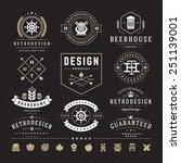 retro vintage insignias or... | Shutterstock .eps vector #251139001