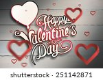 hearts against painted blue... | Shutterstock . vector #251142871