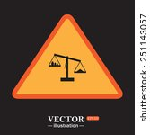 icon scales balance   vector... | Shutterstock .eps vector #251143057