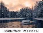 Scenic View Of A River In Winter