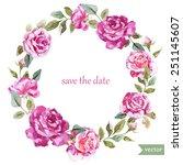 watercolor  wreath  frame ...   Shutterstock .eps vector #251145607