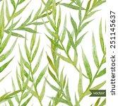 watercolor  plant  leaves ... | Shutterstock .eps vector #251145637