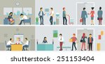 flat design of business people... | Shutterstock .eps vector #251153404