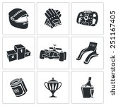 auto racing icons set | Shutterstock .eps vector #251167405