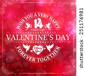 happy valentine's day card with ... | Shutterstock .eps vector #251176981