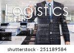 businessman writing logistics... | Shutterstock . vector #251189584