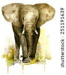 watercolor elephants | Shutterstock . vector #251191639