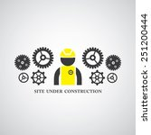 site under construct vector... | Shutterstock .eps vector #251200444