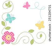Cute Retro Spring Card As Patch ...