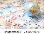 tiny earth globe over the... | Shutterstock . vector #251207071