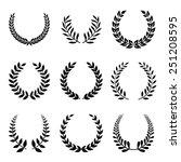 vector collection of laurels ... | Shutterstock .eps vector #251208595
