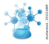 test tube and the molecule... | Shutterstock .eps vector #251211889