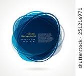 abstract circle frame. vector...   Shutterstock .eps vector #251216971