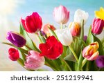 Spring Background With Colorfu...