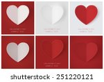 set of greeting cards for... | Shutterstock . vector #251220121