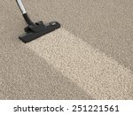 vacuum cleaner hoover on the... | Shutterstock . vector #251221561