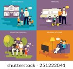 family with children concept... | Shutterstock .eps vector #251222041