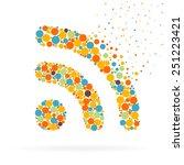 abstract creative concept... | Shutterstock .eps vector #251223421