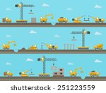 set of seamless horizontal... | Shutterstock .eps vector #251223559