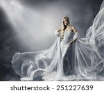 young woman in fashion shiny... | Shutterstock . vector #251227639