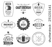 retro set styled label of beer. ... | Shutterstock .eps vector #251231161
