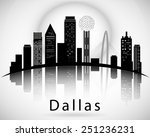 dallas silhouette  texas united ... | Shutterstock .eps vector #251236231