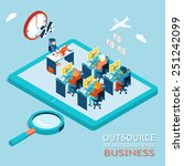 outsourcing the best... | Shutterstock .eps vector #251242099