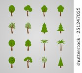 set of tree icons  vector... | Shutterstock .eps vector #251247025