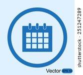 calendar icon | Shutterstock .eps vector #251247289