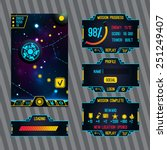futuristic space game interface ...