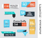 collection of sale discount... | Shutterstock .eps vector #251249971