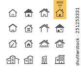 house icons. real estate.... | Shutterstock .eps vector #251253331