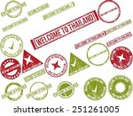 collection of 22 red grunge... | Shutterstock .eps vector #251261005