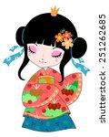 japanese girl in kimono in... | Shutterstock . vector #251262685
