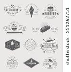 badges set for food | Shutterstock .eps vector #251262751