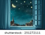 fairy background with stars | Shutterstock . vector #251272111