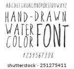 vector watercolor black... | Shutterstock .eps vector #251275411
