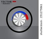 metal volume control  red  blue ...