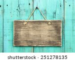 Blank Rustic Wooden Sign...
