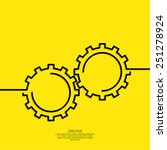 gears vector icon. concept of... | Shutterstock .eps vector #251278924