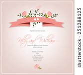 wedding invitation card | Shutterstock .eps vector #251288125
