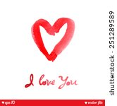 i love you. text message.... | Shutterstock .eps vector #251289589
