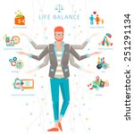 concept of work and life... | Shutterstock .eps vector #251291134