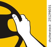 hand on the wheel | Shutterstock .eps vector #251298031