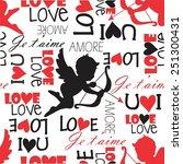 cupid love pattern   Shutterstock .eps vector #251300431