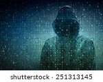 hacker over a screen with... | Shutterstock . vector #251313145
